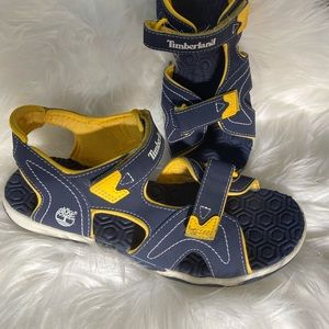 Timberland Blue and Yellow Sandals size 7